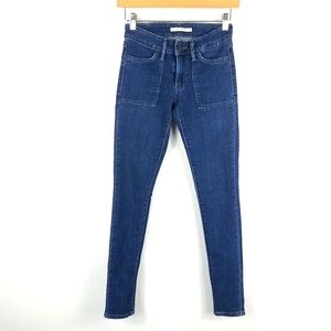Levis 711 Skinny High Waist Patch Pocket Jeans